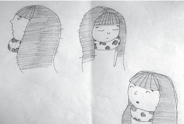 Razrada - prvi koncepti devojčice