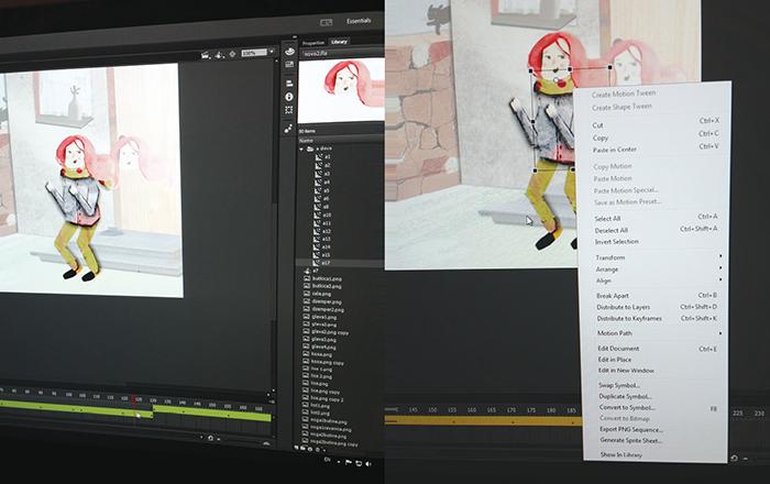 Razrada - rad na animaciji Svetlost