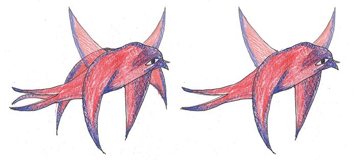 Let ptice koji sadrži tri faze sporiji je od leta koji sadrži samo dve faze.
