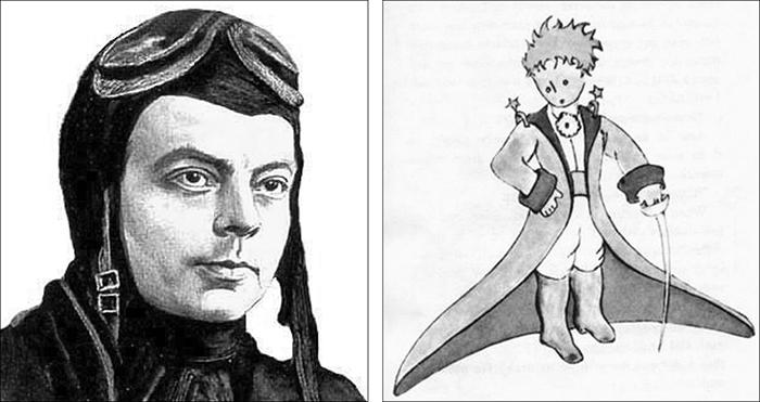 (levo) Antoan de Sent Egziperi (desno) Mali princ