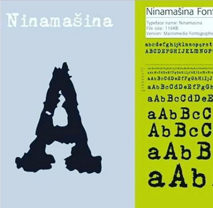 Nina Mašina font