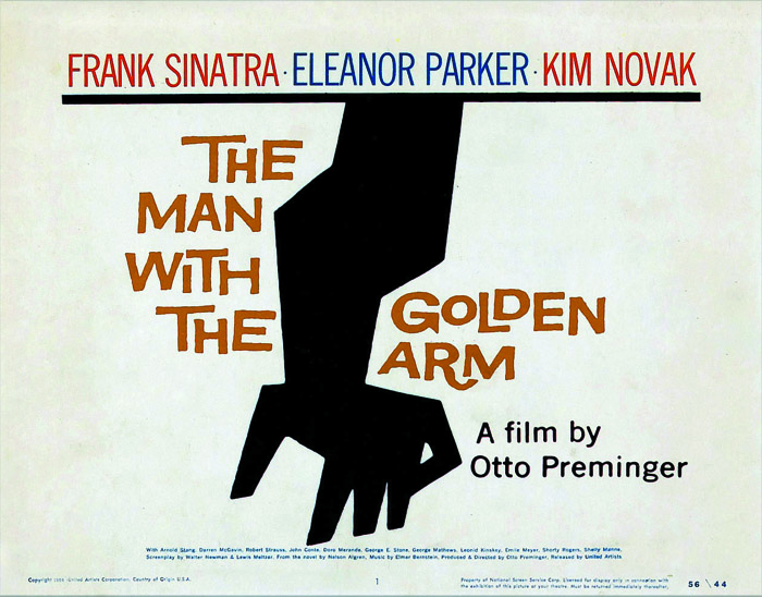Sol Besovi čuveni plakat za film Čovek sa zlatnom rukom (The Man With the Golden Arm), 1955
