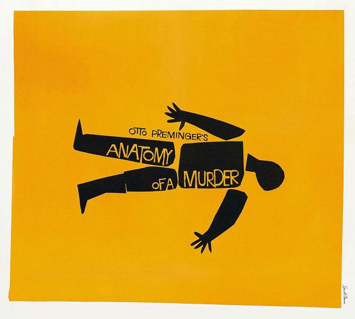 Sol Besovi čuveni plakat za film Anatomija ubistva (Anatomy of a Murder), 1959