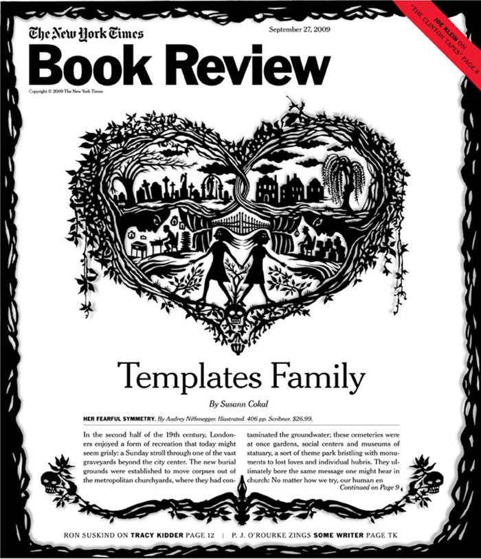 Published September 25, 2009: Cover art illustration for Templates Family, by Susann Cokal