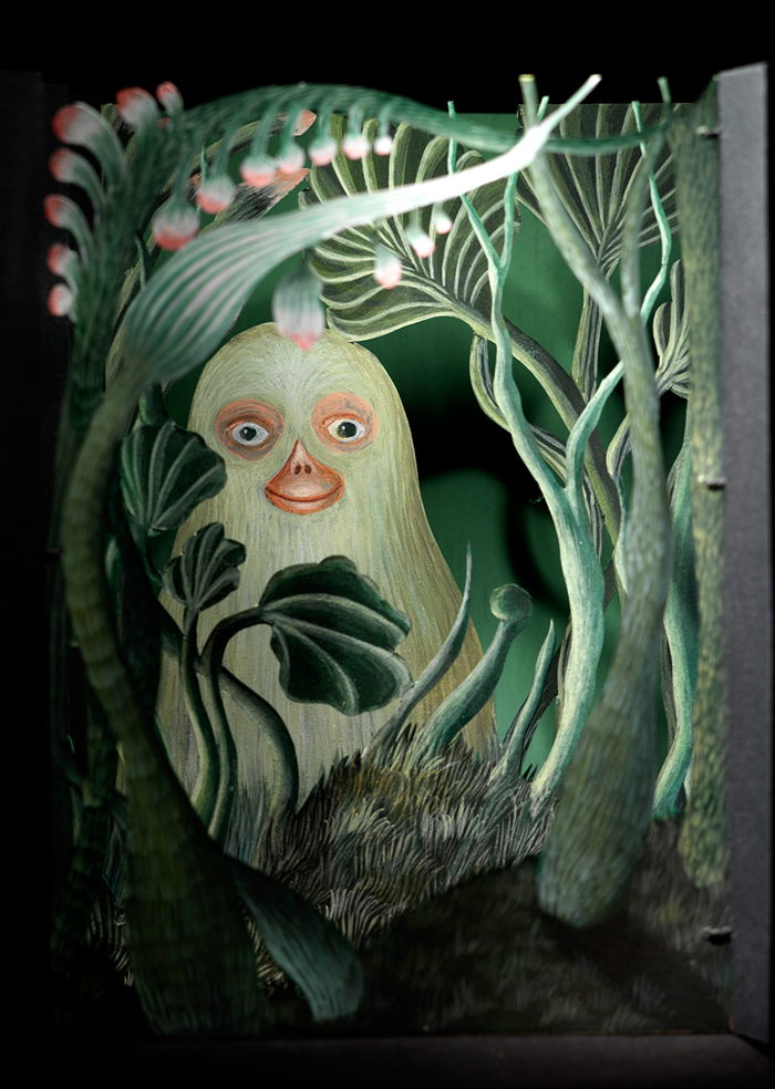 Living Inside, Gentle Being Hiding Inside a Garden, 2009