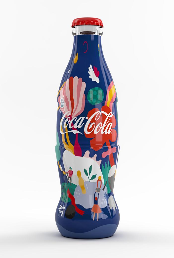 Ilustracija za ograničenu seriju Coca-Cola flaša, 2017