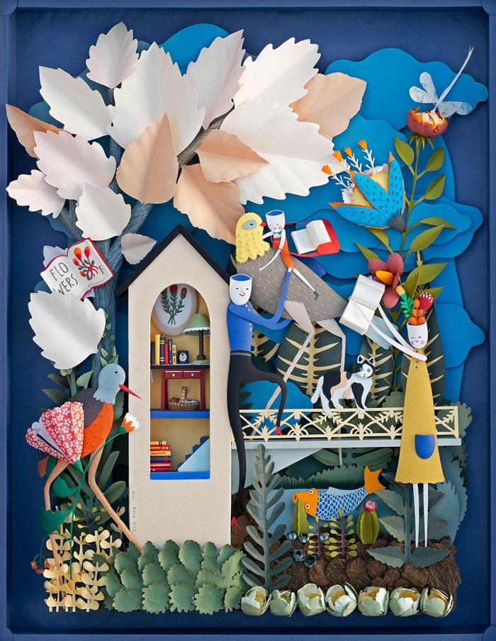 Ilustracija za poster za Festival čitanja u Majamiju, Elsa Mora (Elsa Mora)