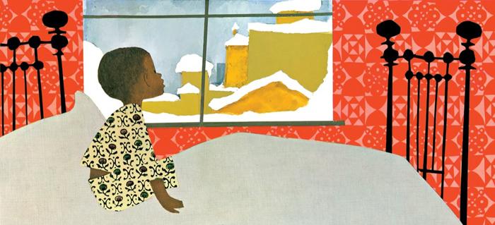 Ilustracija iz knjige Snježni dan
