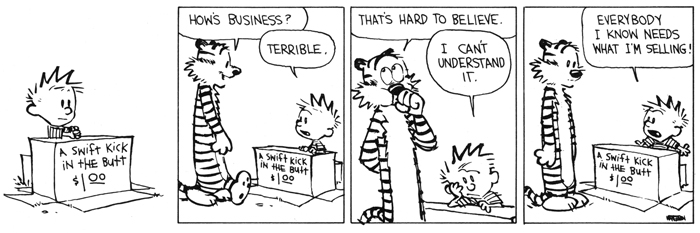Primjer stripa Kalvin i Hobs