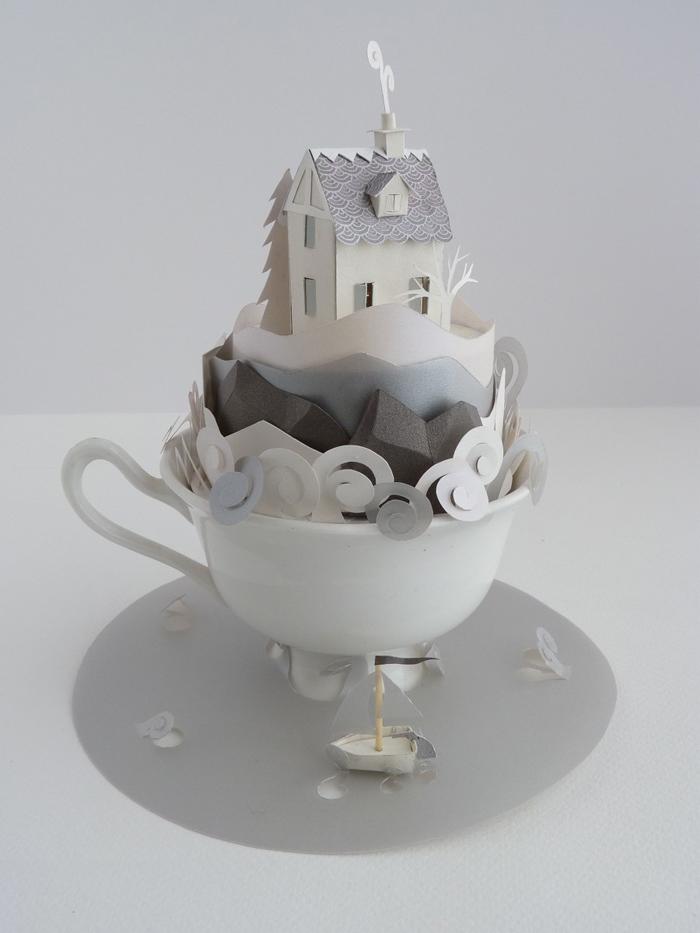 Skulptura Ostrvo u šoljici čaja, Helen Muselvite (Helen Musselwhite)