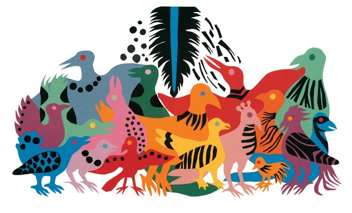 Ilustracija iz knjige Lijepa crna ptica