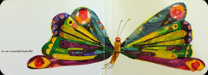Ilustracija iz knjige Mala gusjenica