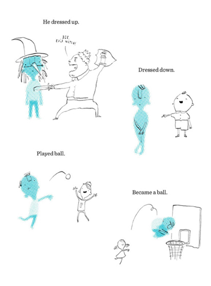 Ilustracija iz knjige Imaginarni Fred