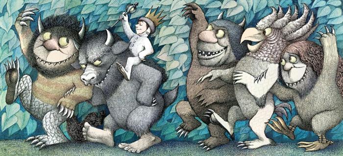 Ilustracija iz knjige Tamo gdje su divlje stvari
