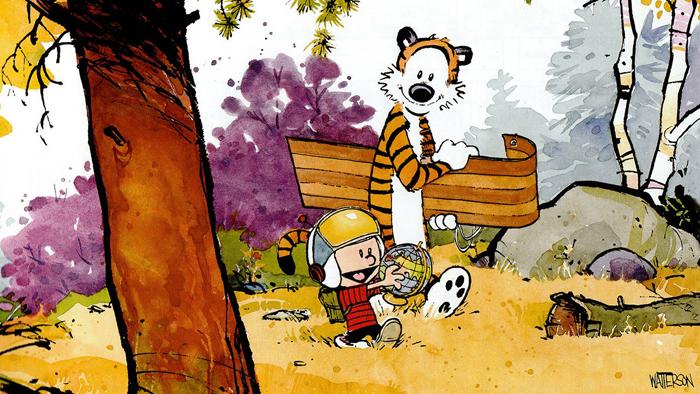Ilustracija iz knjige Kalvin i Hobs
